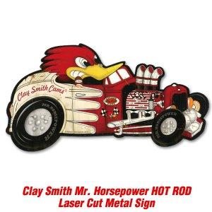 画像: クレイスミス HOT ROD レーザー カット メタル サイン