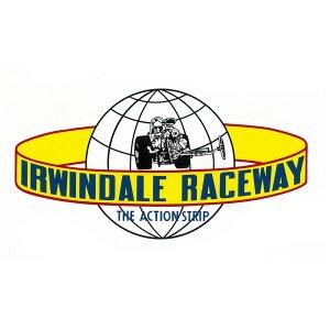 画像: ホットロッド ステッカー IRWINDALE RACEWAY ステッカー
