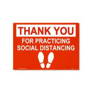 画像: Thank You Social Distancing ステッカー (ソーシャルディスタンスのご協力に感謝)