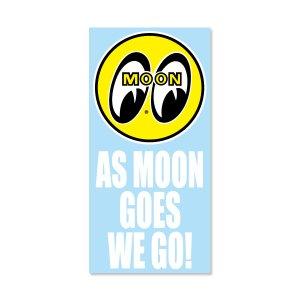 画像: As MOON Goes We Go ステッカー (抜きタイプ)