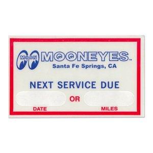 画像: MOON Next Service Due ステッカー