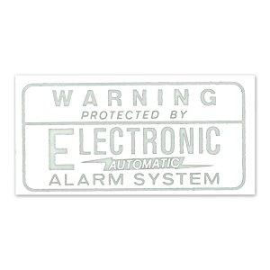 画像: ホットロッド ステッカー ALARM SYSTEM 裏貼りデカール