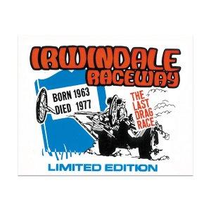 画像: HOT ROD ノスタルジック ステッカー Irwindale Raceway (ラスト レース) デカール