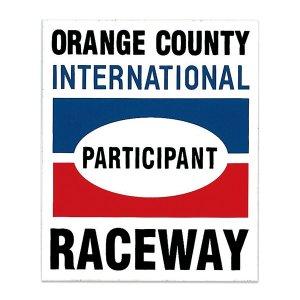 画像: HOT ROD ノスタルジック ステッカー Orange County Raceway Participant デカール