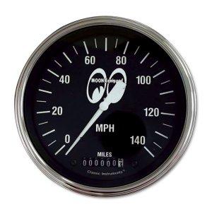 画像: MOON Equipped 4 5/8インチ 140MPH スピード メーター<ブラック>