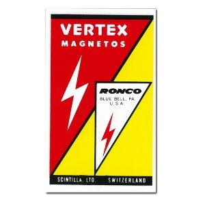 画像: ホットロッド ステッカー VERTEX MAGNETOS ステッカー