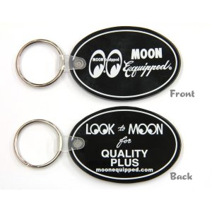 画像: MOON Equipped Oval Rubber Key Ring
