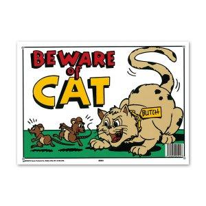 画像: BEWARE of CAT (ネコに注意)