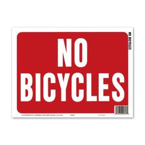 画像: NO BICYCLES (自転車禁止)