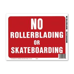 画像: NO ROLLERBLADING or SKATEBOARDING (スケボー禁止)