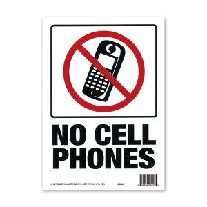 画像: NO CELL PHONES (携帯電話禁止)