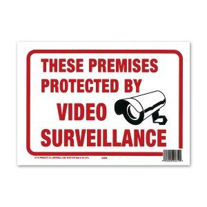 画像: PROTECTED BY VIDEO SURVEILLANCE (監視カメラ作動中)
