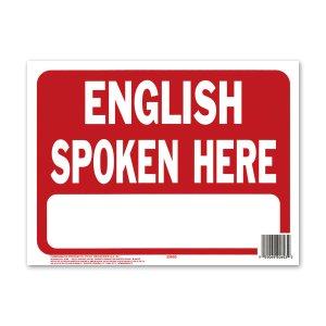 画像: ENGLISH SPOKEN HERE (英語通じます)