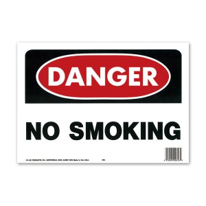 画像: DANGER NO SMOKING (危険、禁煙)