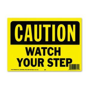 画像: CAUTION WATCH YOUR STEP (警告、足下に注意してください)