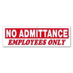 画像: 立ち入り禁止、従業員用
