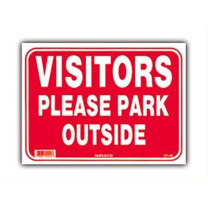 画像: お客様へ。駐車は場外へお願いします。