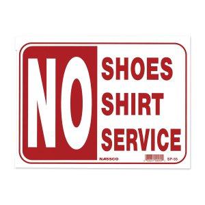 画像: 靴とシャツ未着用の方にはサービスしません