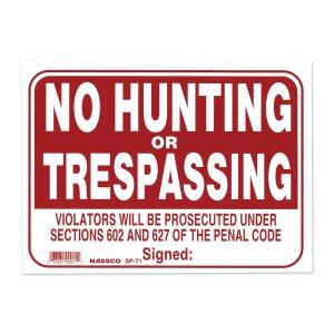 画像: 狩猟や通り抜け不可、見つけ次第法により罰する