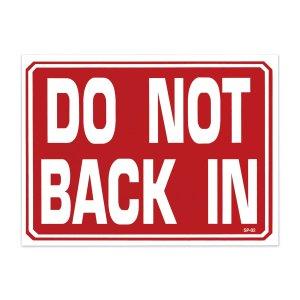 画像: DO NOT BACK IN - バックで入れないでください。