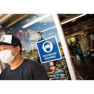 画像: Face Masks Required サイン (フェイス マスク 必須)