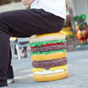 画像: ハンバーガー スツール