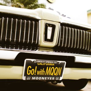 画像: MOONEYES カリフォルニア ライセンス プレート Go! with MQQN