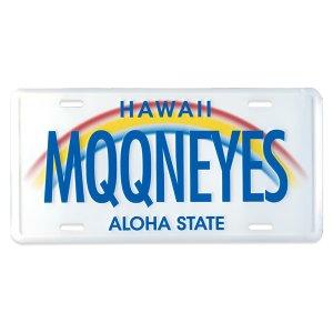 画像: MOONEYES ハワイ ライセンス プレート