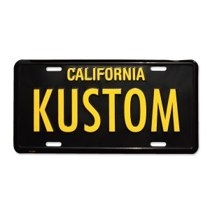 画像: MOONEYES カリフォルニア ライセンス プレート KUSTOM