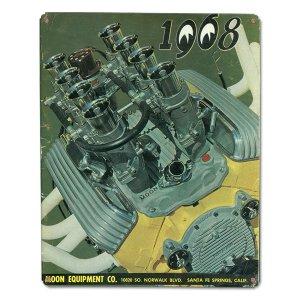 画像: MOON ビンテージ サイン プレート 1968年 Front Cover