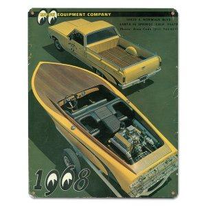画像: MOON ビンテージ サイン プレート 1968年 Back Cover