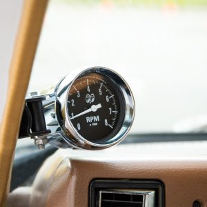 画像: MOON Mini Tachometer Black 8000rpm