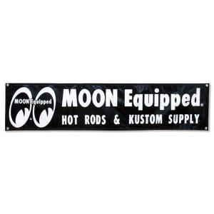 画像: MOON Equipped Black ビニール バナー