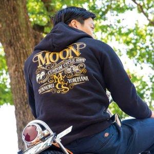 画像: MOON Custom Cycle Shop ジップ フーディー