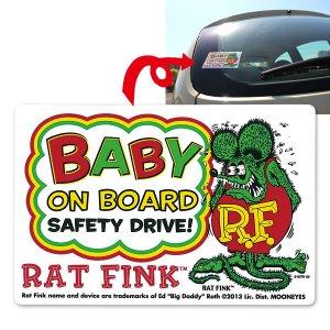 画像: Rat Fink Baby on Board Sticker