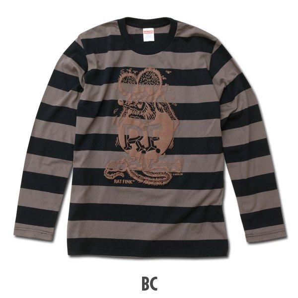 画像3: Rat Fink ボーダー ロング スリーブ Tシャツ (3)