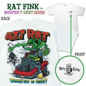 """画像: ラット フィンク モンスター Tシャツ """"427 Rat Shirt"""""""