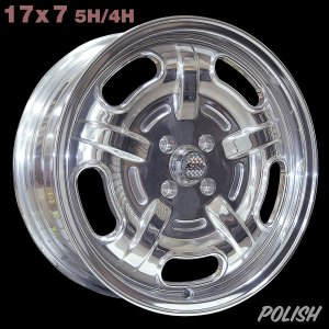 画像: Speed Master Wheel 17×7 5H/4H【ポリッシュ】