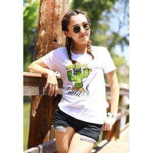 画像: レディース MOON Cactus Tシャツ