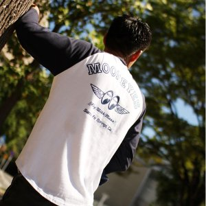 画像: FLY with MOON Raglan 3/4 Sleeve T-Shirts