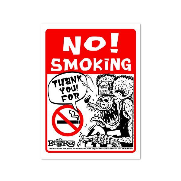 画像1: Rat Fink メッセージ ボード NO Smoking (1)