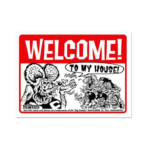 画像1: Rat Fink メッセージ ボード Welcome (1)