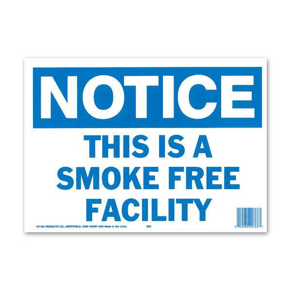 画像1: NOTICE SMOKE FREE FACILITY (注意、この施設は禁煙です) (1)
