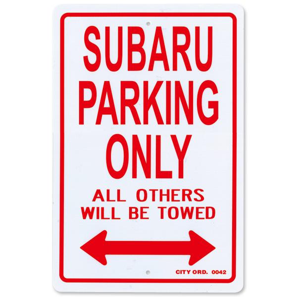 """画像1: パーキング サイン ボード """"SUBARU"""" (1)"""